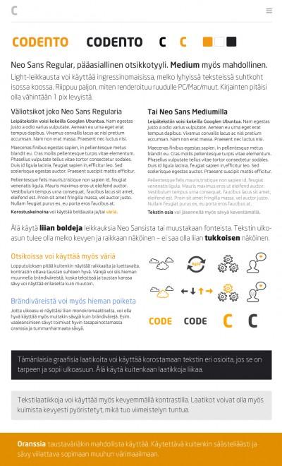 Nettisivuston visuaalisen ilmeen ohjeistus