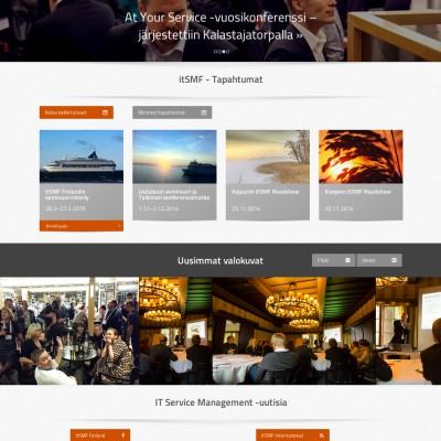 itSMF.fi-sivuston ilme ja toteutus