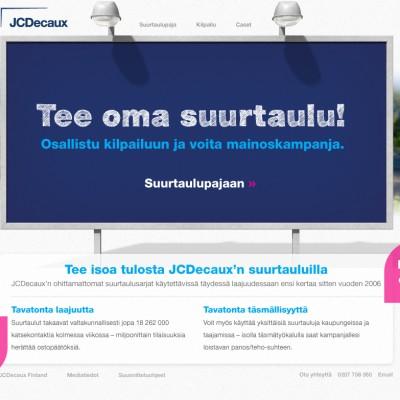 JCDecaux, Suurtaulukampanja