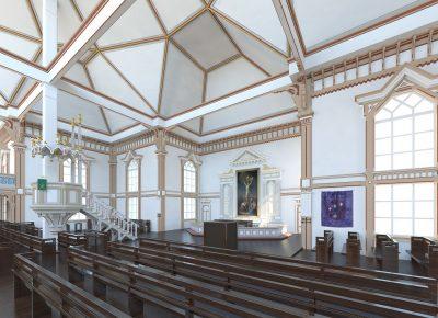 Kirkon sisätilojen mallintaminen