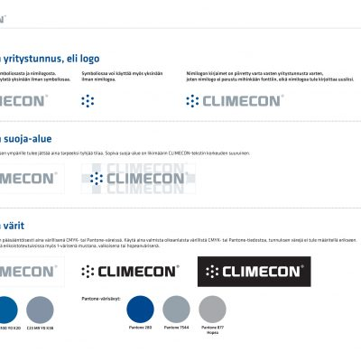 Climecon identity, marketing and product images