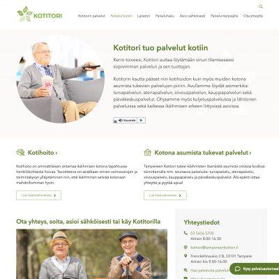 Tampereenkotitori.fi · Suunnittelu ja toteutus